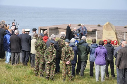 Arctic Co 1nvoy veterans at Loch Ewe memorial 2