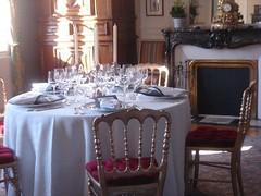 Chateau La Mission Haut Brion dining room