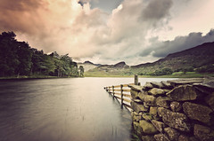 Blea Tarn Fence (John Ormerod) Tags: morning lake water wall clouds photoshop vintage fence countryside nikon raw sigma retro hills fells 1020mm tarn langdales bleatarn hff langdalepikes lee09gnd cs5 d7000 leend09proglass