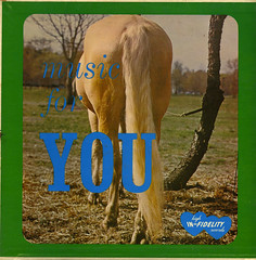 Music For YOU (Jim Ed Blanchard) Tags: horses horse music tree ass vintage for weird high funny you album joke tail vinyl jacket cover lp record gag sleeve dung infidelity