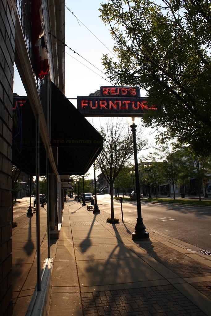 Reidu0027s Furniture (Flint Foto Factory) Tags: Camera City Morning Blue Light  Red Summer