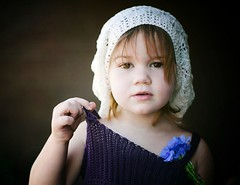 little model (demandaj) Tags: blue flower purple modeling crochet babyface sarahlora