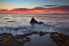 Sky On Fire (Shawn S. Park) Tags: sunset cliff beach rock canon wave 5d shawn palosverdes 1635 ranchopalosverdes ef1635mmf28lii eos5dmarkii
