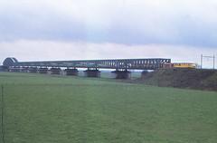 Culemborg Lekbrug  13-3-1978 (Jagd1sitzer) Tags: ns lek culemborg riverrhine spoorbrug planu vakwerkbrug