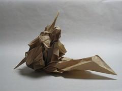 舞踏 -- 春 (BUTOH -- Frühling) (Zenshiro Toshinao (Origami Photos)) Tags: japan dance origami figure paperfolding 折り紙 japanesepopularfolkart