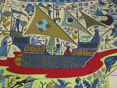 UK - London - Walthamstow - William Morris Museum - Walthamstow Tapestry (JulesFoto) Tags: uk england london artwork walthamstow tapestry lloydpark graysonperry williammorrismuseum walthamstowtapestry