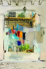 Havana Courtyard Version 2 (Artypixall) Tags: building texture arch havana cuba courtyard clothes clotheslines faa lahabana