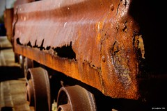 Rawhide (Zo0Bear) Tags: old our red brown truck canon project photography photo rust mine flickr track wheels stock rusty trains daily mining rusted roll 365 coal challenge rolling odc 366 550d zmt