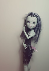 Open-Hearted Frankie (Frankie Nadine) Tags: face up monster high mod doll makeup frankie customized custom modification stein repaint faceup