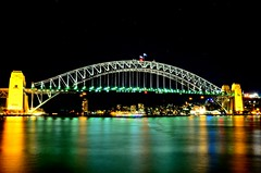 SYDNEY 2 (rideritaliano) Tags: bridge night nikon harbour oz sydney australia pont nuit vr australie 18105 d7000