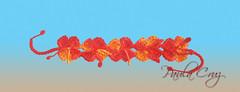 Bracelete em Crochet (Paula Cruz - Polymer Clay Artist) Tags: flowers orange flores crochet artesanato bracelet paulacruz acessriosfeitosmo