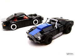 Porsche vs. Cobra (ZetoVince) Tags: ford car greek cobra lego ace 911 vince porsche shelby vehicle carroll minifig ac coupe 930 carrera roadster zeto zetovince