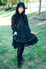 Gothic lolita out door 013 (NM.San) Tags: boy black cute doll dress vampire cd gothic lolita egl mana crossdress  ero crossplay dolllike australiantechnologypark    brolita mrnightmare         animinia