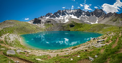 Lac Saint Anne (2 415m), Queyras, French Alps (Julie. D) Tags: lake lac lacsaintanne alpes alps queyras nature landscape paysage colors water mountain montagnes d7100 nikon tokina1116 panorama