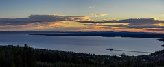 Summer sunset (Jens Haggren) Tags: olympus em1 sun sunset sky clouds water lake trees mountains view landscape rttvik siljan dalarna sweden