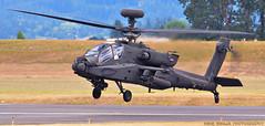 Boxy Guardian (Swaja's Aviation Art) Tags: portland hillsboro airport khio hio oregon ah64 apache military helicopter