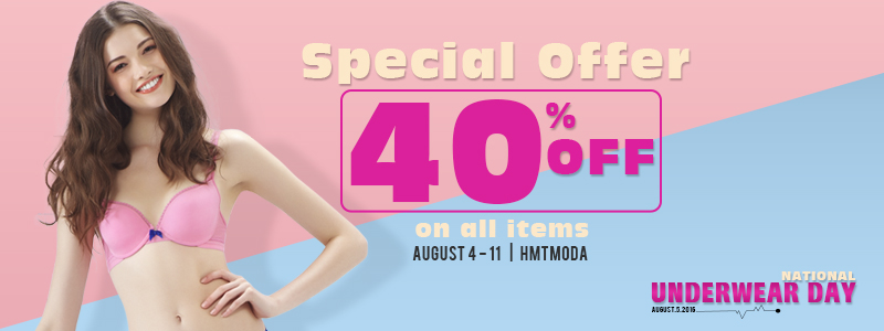 National Underwear Day - Special Offer 40% Off On All Items