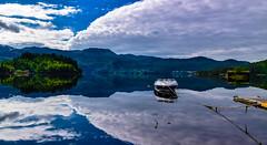 Specchio (carbonemarcomc) Tags: acqua norvegia nord vacanze cielo estate specchio norge water boat sky fiordo fjord viaggi riflesso
