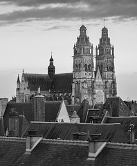 Cathdrale Saint Gatien de Tours (hedes) Tags: cathdrale toits roof church tours loire sony alpha7rii 70200f4