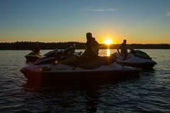 Jet ski break and a sunset (VisitLakeland) Tags: vesijetti jet ski water lake jrvi kallavesi seikkailukuopio adventure summer seikkailu finland kuopio