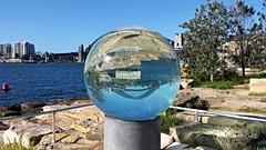 20160815_142448   Art At Barangaroo. (Boat bloke) Tags: sydney australaia barangaroo harbour harbor sydneyharbourbridge blue water coast waterfront samsung galaxy s4