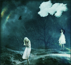 Don't you cry for me (bdira3) Tags: surreal conceptual cloud crying girl mysterious souls textured