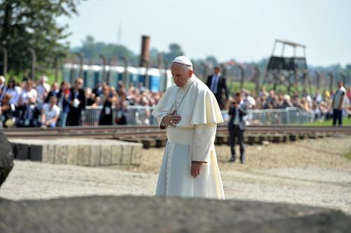 Wizyta papieża w obozie Auschwitz-Birkenau