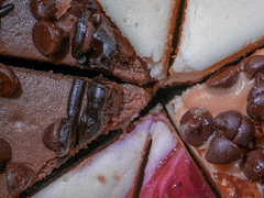 In honor of National Cheesecake Day, Saturday July 30th (what's_the_frequency) Tags: macromonday filltheframewithfood food cheesecake nationalcheesecakeday creamcheese raspberry crust chocolate chocolatechips sweet sweets dessert decadent rich flavor hmm d3300 tamron60mmf2 macromondays