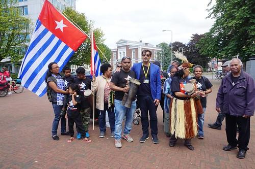 Globale Free West Papua demonstratie