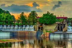 Wow what a sky (rexallenphoto) Tags: beautiful water sky green hdr dam