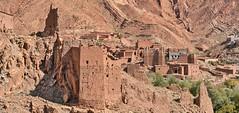 Dades Gorge, Morocco (ott.geoffrey) Tags: dades gorge valley morocco kasbah ruins mud brick dry