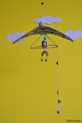 Fly little boy!... (* Cláudia Helena * brincadeira de papel *) Tags: papelmache papermache papiermache papel paper móbile criança fly voo asadelta cores cor colors cláudiahelena escultura papersculpture de amor love paz alegria child children passarinho bird