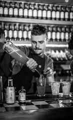 Jameson Cocktails 2 (davidjhumphries) Tags: black white canon 5d 50mm f14 coctails whiskey jameson alcohol bartender barpub drink food dof dublin festival big grill 130816 0816 2016 herbert park