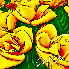 Yellow Roses created on an iPad in Procreate using an Apple Pencil (davekyte) Tags: ifttt 500px bright artistic yellow procreate apple pencil ipad roses
