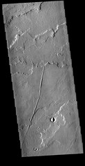 Tharsis lava flow layers (THEMIS_IOTD_20160824) (ASUMarsSpaceFlight) Tags: lava lavaflows tharsis ascraeusmons volcanics marsed geotags canyons channels chaos clouds color craters dunes dust ice landingsites layers masswasting mountains polarcaps storms tectonics wind