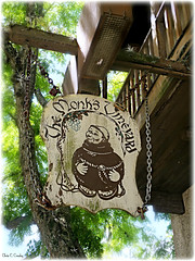 The Monk's Vineyard (Chris C. Crowley) Tags: themonksvineyard staugustinefl stgeorgesst restaurantbar sign balcony chains wooden building
