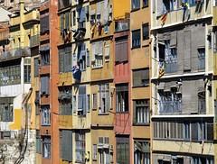 girona, spain (gerben more) Tags: girona houses laundry window balcony spain colours colors