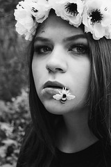 Sting & Swell (kristenharner) Tags: bee flowers fall spring summer winter crown flowercrown comb honeycomb bees beesnest nest portrait selfportrait self me blackandwhite black white canon canonrebel rebel flickr art artist photo photography