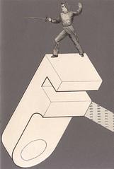 touche (kurberry) Tags: collage grey fencing vintageephemera