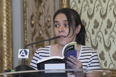 Ana Gorria, poeta (Casa de Amrica) Tags: poesia guaraguao revista cultura mariocampaa antoniogamoneda madrid espaa latinoamerica iberoamerica americalatina casaamerica casamerica casadeamerica poetas escritores