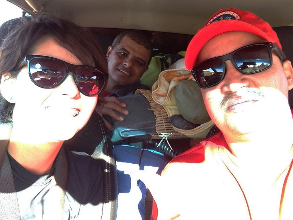 Bombeiros e blogueira no Caminho do Sertão