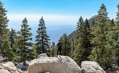 Melissa on top of Mt. San Jacinto (MudflapDC) Tags: california hike travel forest highaltitude mtsanjacinto panorama 2016 nationalpark holiday vacation unitedstates us
