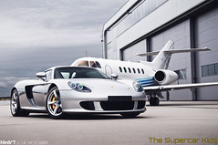 Porsche Carrera GT And Private Jet Shoot (NWVT.co.uk) Tags: uk london silver private photography one 1 airport nikon shoot rear jet lifestyle porsche and quarter gt issue luxury rare carrera airfield d300 tsk hypercar l4p nwvt rizonjet thesupercarkids
