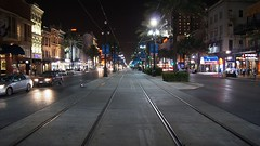 The Rails to Carnival (hmerinomx) Tags: street new summer usa night lights luces noche canal calle orleans louisiana main restaurants rail verano stores nueva principal restaurantes tiendas rieles flickraward