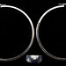 4049. White Gold Hoop Earrings and Ring