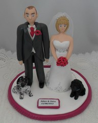 SAM_0014 (pauline@weddingtreasures) Tags: wedding dogs groom bride couple weddingcake husband fimo figurines wife sculpey bouquet newlyweds weddingcaketoppers