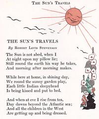 The Sun's Travels poem (katinthecupboard) Tags: poem rls vintagechildrensillustrations vintagechildrensstorybook lucilleenders vintagechildrenspoetry enderslucille
