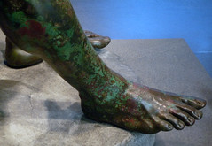 Apollonius, Boxer at Rest, detail with foot