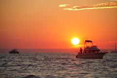 Morning Bite (Matt Champlin) Tags: morning lake fish sports water sunrise canon fun outside outdoors boat fishing relaxing peaceful calm boating upstatenewyork troll excitement tranquil oswego 2012 anglers salmonfishing angling trolling onthewater salmonfishinglakeontario
