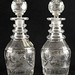 244. Pair of 19th century Anglo-Irish Cut Glass Decanters